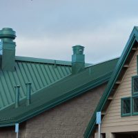 green metal roofing done by roofing contractors in chicago